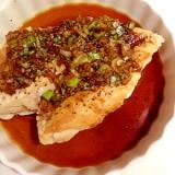 【糖尿病食】120kcal鶏胸肉の生姜ネギソース