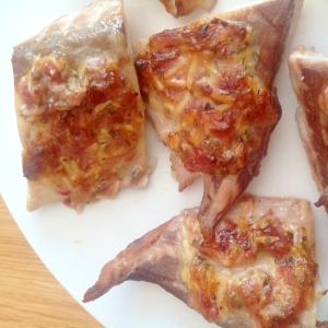 シマアジの梅マヨチーズ焼き