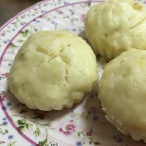 離乳食☆バナナヨーグルト蒸しパン