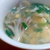 舞茸とニラの中華スープ