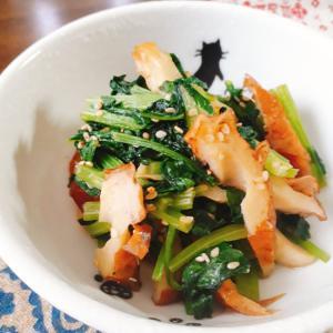 めんつゆで簡単!小松菜とちくわの炒めもの
