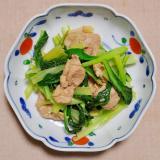 豚肉と小松菜の塩炒め