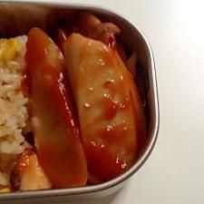 お弁当にもう一品☆魚肉ソーセージのバターケチャップ