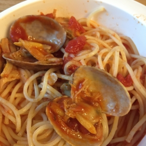 子供と食べる 簡単 ボンゴレロッソ