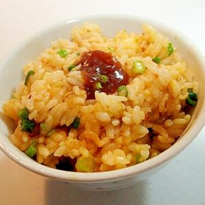 ゆず味噌のせ 卵黄とアルファルファとねぎの混ぜご飯
