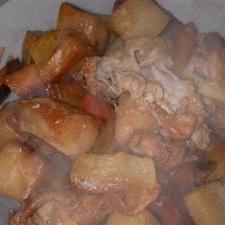 炊飯器でいり豚
