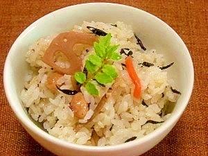 圧力鍋で☆ヒジキとツナの炊き込みご飯