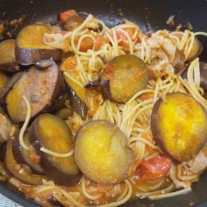 茄子とトマトのスパゲッティ