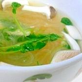 春雨と豆苗の簡単スープ