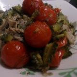 ゴーヤと豚肉のトマト煮込み