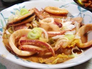 イカと白菜の簡単炒め