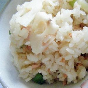 鮭とれんこんの混ぜご飯