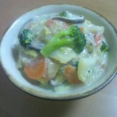 白菜の中華風豆乳煮♪