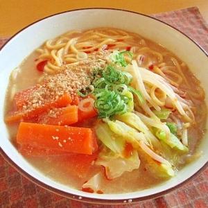 インスタントアレンジ☆ピリ辛豆乳ごま味噌ラーメン