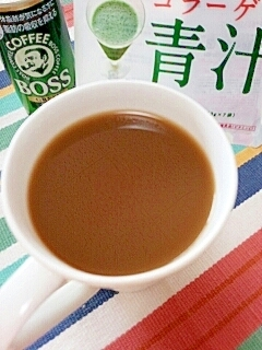 美女BOSS☆美肌な青汁ローズヒップカフェオレ♪