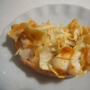 マーボー豆腐&生姜マヨでキャベツベーグルトースト