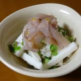 おつまみに!イカの塩辛と長芋の和え物