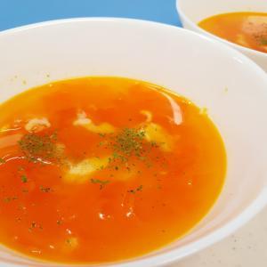 ピーラーで(^^)ニンジンひらひらチーズスープ♪