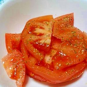 バジル入りオイルで作るトマトのマリネ