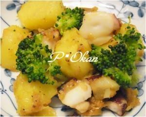 ご飯にあう☆タコとジャガイモの炒め物