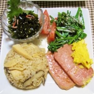 ポーク卵de春ご飯プレート【沖縄イメージ】