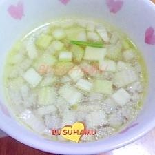 野菜の甘みが美味しい☆ベーコンとセロリのスープ