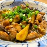 ナスとサバ缶の中華風味噌炒め