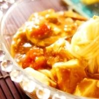 フライパンだけで、夏のトマト冷やし麻婆豆腐素麺