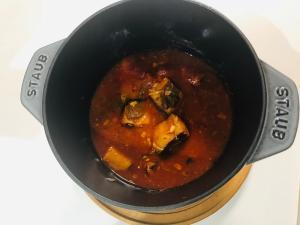 イワシ缶でトマト煮込み