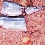 旬の秋刀魚でうちバル、秋刀魚と栗のパエリア