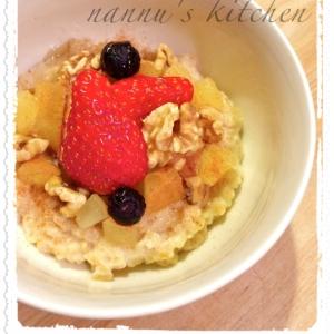 北欧の朝食❤ヘルシーで栄養満点オートミール♪