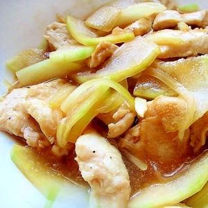 簡単!鶏むね肉と冬瓜のレンジ蒸し