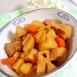 めんつゆで簡単☆鶏肉と蓮根の煮物☆