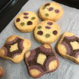 アイスボックスクッキー。水玉模様と四海巻き風