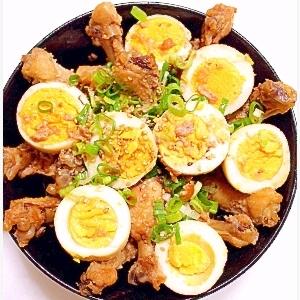 手羽元と卵の煮物