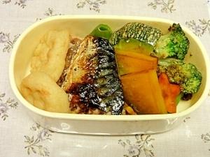 お弁当にぴったり。副菜も一緒に調理 ポン酢さば