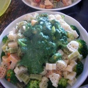 簡単グリーンクリームパスタソース。