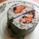 ラップなしで❤おにぎらず♪(塩鮭&赤紫蘇&ゆかり)