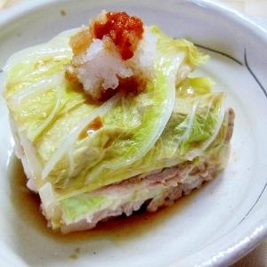 白菜と豚バラ肉の重ね蒸し