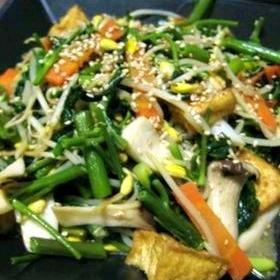 花椒(ホワジャオ)と空芯菜の中華炒め