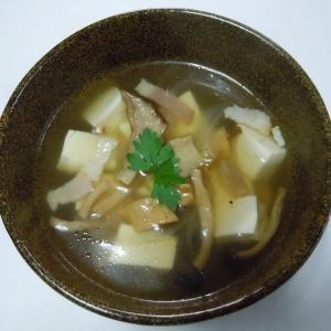 簡単干しきのこスープ