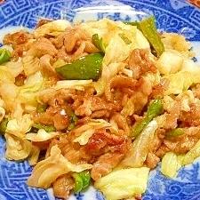 豚肉とキャベツの辛味噌炒め