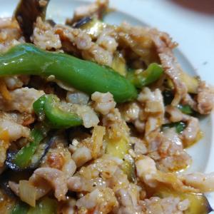 豚肉と夏野菜のピリ辛炒め⭐