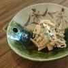 柿と小松菜の白和え