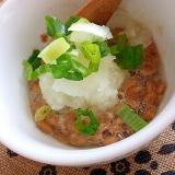 あっさり~大根おろしで納豆を食べる。