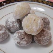 さくほろクッキー☆スノーボールショコラ