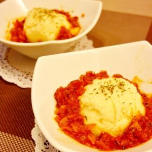 イタリアントマトソースDEポテトサラダ