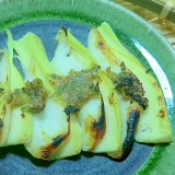 春の香り,竹の子と笹かまのばっけ味噌焼き