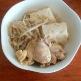 重曹で柔らか!鶏モモ肉と豆腐の和風煮