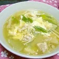 エノキと葱の卵スープ☆